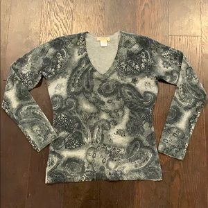Kenar at 100% cashmere paisley sweater